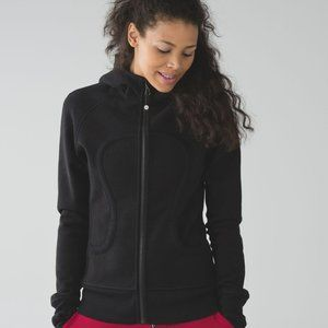 Lululemon Black Scuba Hoodie w/ White Decal